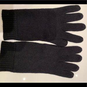 Accessories - Black cashmere gloves